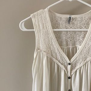 Rip curl Lace button top